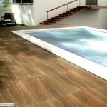 Wood-looking tiles for outdoor areas.