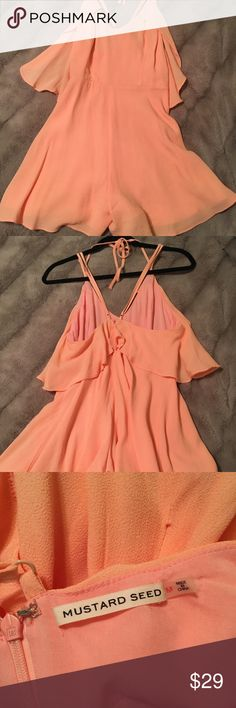 Mustard Seed Peach Romper - Size M Mustard Seed Peach Romper - Size M . Perfect condition . Worn once . Mustard Seed Other