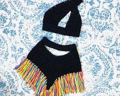 Crochet Halter Tops, Bikini Crochet, Crochet Pants, Crochet Clothes, Diy Clothes, Knit Crochet, Crochet Designs, Crochet Patterns, Mode Crochet