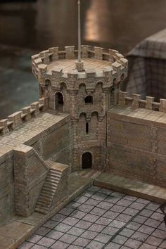 Pin by Brian Laliberte on Terrain & Models Chateau Medieval, Medieval Castle, Medieval Fantasy, Medieval Tower, Model Castle, Toy Castle, Minecraft Castle, Minecraft Medieval, Terrain 40k