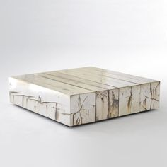 Periodic Table, by Council reclaimed wood, natural texture. made from planed solid railroad ties. This table has a beautiful, high quality silver plated finish. Table Furniture, Modern Furniture, Home Furniture, Furniture Design, Craftsman Furniture, Do It Yourself Furniture, Reclaimed Timber, Coffe Table, Wood Blocks