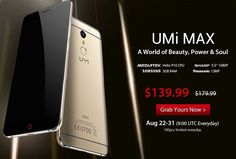 [Great Deal] : UMI Max 4G phablet at $140 with free shipping