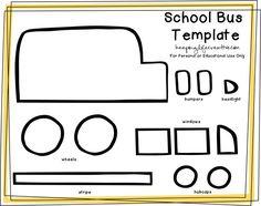 Create a School Bus Feltie for flannel or felt board using a FREE Printable School Bus Craft Template.