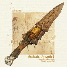 Fantasy Sword, Fantasy Weapons, Fantasy Art, Dnd Characters, Fantasy Characters, Fantasy Character Design, Character Art, Sword Design, Dungeons And Dragons Homebrew