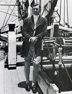 Clark Gable in Mutiny on the Bounty, 1935 - Fletcher Christian successfully leads a revolt against the ruthless Captain Bligh on the HMS Bounty. However, Bligh returns one year later, hell bent on avenging his captors.