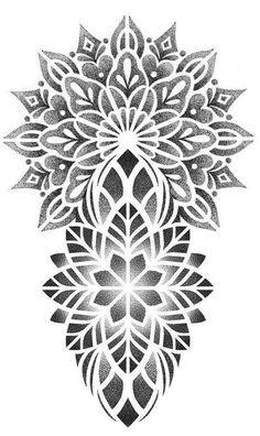 Geometric Tattoo Pattern, Geometric Mandala Tattoo, Mandala Tattoo Design, Tattoo Design Drawings, Armband Tattoo Design, Tattoo Sleeve Designs, Sleeve Tattoos, Dotwork Tattoo Mandala, Mandala Tattoo Sleeve