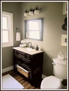 """Better Home and Gardens color called """"Newsworthy Neutral.""""  It is a great neutral to blend grays and browns."""