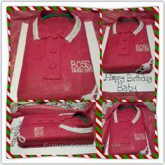 Coolest Red Hugo Boss Shirt Cake... Coolest Birthday Cake Ideas