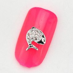 Tint 2015 New 10PCS RG052 Fish Luxury Mini Zircon 3D Alloy Nail art Decoration Diamond Nail Salon Supplier DIY Accessories ** Check out this great product.