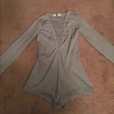 Brand new grey bodysuit Never been worn bodysuit Dicloud Intimates & Sleepwear