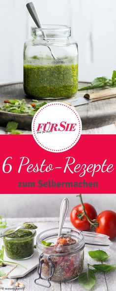 Das klassische Pesto mit Basilikum und Pinienkernen bekommt Zuwachs: Wir verraten euch sechs Rezepte für Pesto mit Paprika, Mandeln, Koriander oder Ingwer.