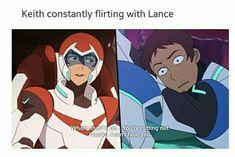 Keith coqueteando con Lance