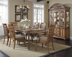 Palm Court Rectangular Dining Room Set W/ Lattice Chairs