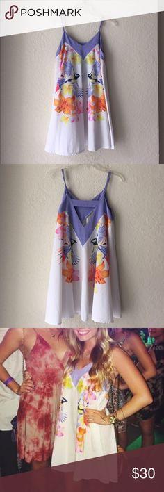 Floral Dress white and purple floral dress LF Dresses Mini