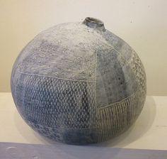 -Large Tsubo Pot - 25x25x22cms