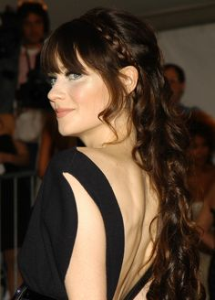 Zooey Deschanel, LOVE this hairstyle