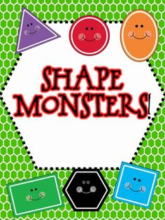 Free 2D shape activity!  Use shapes to create shape monsters!
