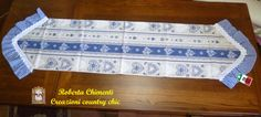 Country table runner tyrolean table cover cottage style