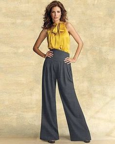 Calça Pantalona Eg Modelo Importado Designer Elegante E Fino - R$ 149,00