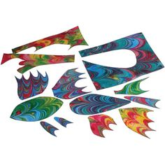Cut-Paper 3-D Marbled Fish - Project #81 - United Art and Education