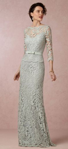 Clarisse Dress from BHLDN - mother of the bride/groom dress Mother Of Groom Dresses, Bride Groom Dress, Mothers Dresses, Bride Gowns, Elegant Dresses, Pretty Dresses, Beautiful Dresses, Lace Bridesmaid Dresses, Wedding Dresses