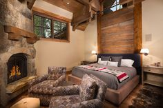 A collection of interior designs featuring 19 Magical Rustic Bedroom Interior Designs That Will Relax You. Rustic Cafe, Rustic Restaurant, Rustic Bench, Kitchen Rustic, Rustic Shelves, Rustic Home Design, Rustic Style, Rustic Apartment, Rustic Fireplaces