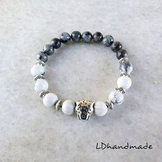 Beaded Moonstone elasticity bracelet with ethnic charms. White Moonstone, Silver Charms, Ethnic, My Etsy Shop, Beaded Bracelets, Charmed, Jewels, Gemstones, Sterling Silver