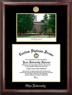 NCAA Oklahoma Sooners Unisex University of Oklahoma 11 x 8.5 Inches Gold Embossed Diploma Frame with 5 x 7 Inches Portrait Gold Embossed Diploma Frame with 5 x 7 Inches Portrait Brown One Size