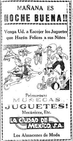 1938 - Venta de Juguetes para Navidad - Anuncio publicado en el Informador Guadalajara, Jalisco México