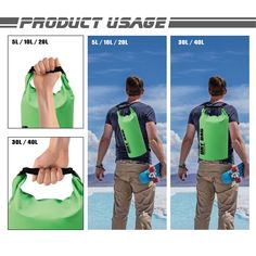 INDDY Dry Bag Waterproof Bag Dry Sack 10L//20L//30L//40L for Kayaking Beach Boating Fishing Swimming Camping Snowboarding with Waterproof Phone Case