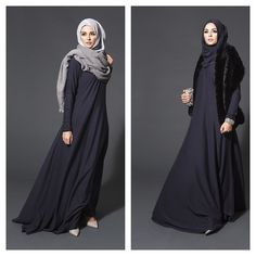 love the look. must find out what material it is Muslim Dress, Hijab Dress, Hijab Outfit, Muslim Women Fashion, Islamic Fashion, Beautiful Muslim Women, Beautiful Hijab, Abaya Fashion, Modest Fashion
