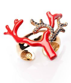 Coral Napking Ring  #robertocavalli #robertocavallihomeaustralia #palazzocollezioni #napkingring #tableware #sydney #australia