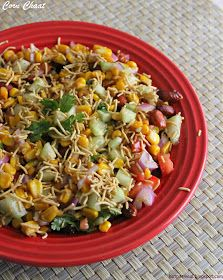 Hot pot cooking: Corn Chaat