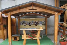 Gazebo Luve in legno lamellare in kit di montagigo