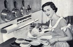 Soup's on! #vintage #1940s #1950s #homemaker #kitchen