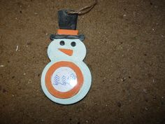Hand painted wooden snowman ornament picture by LabArcDesigns, $5.00