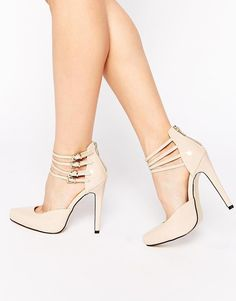 Truffle Collection | Truffle Collection Alma Ankle Strap Heeled Shoes at ASOS