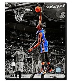 Kevin Durant Canvas Framed Over With 2 Inches Stretcher Bars-Ready To Hang- Awesome & Beautiful
