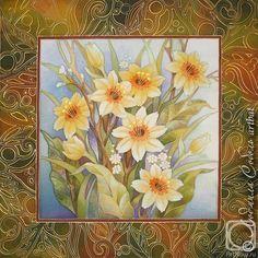 Батик цветы своими руками