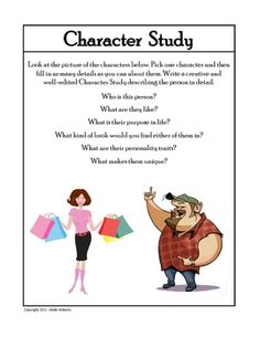 Creative writing characters