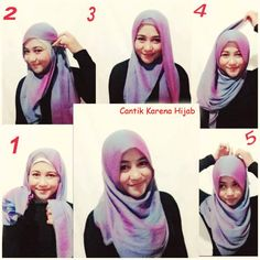 ... Hijab Tutorials on Pinterest | Hijab tutorial, Simple hijab and Hijabs
