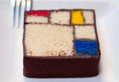 Mondrian Cake. Photo: Art & Interior Design via Facebook.