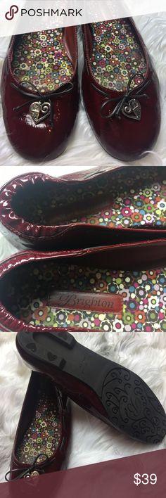 Brighton burgundy patent leather flats Juliet Brighton burgundy patent leather flats loafers style Juliet Brighton Shoes Flats & Loafers