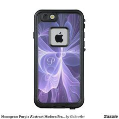 Monogram Purple Abstract Modern Fractal LifeProof FRĒ iPhone 6/6s Case