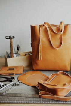 Vegetable Tanned leather.