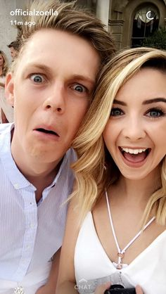 Zoe Sugg and Caspar Lee