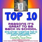 "FREE Top 10 Lists Activity  Start the year in a positive way!  Inspired by David Letterman's ""Top 10"" lists, this back-to-school activity allows st..."