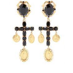 Crystal Cross Earrings | Dolce & Gabbana ✽ mytheresa.com