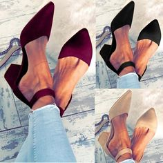 Casual Comfort Adjustable Buckle Shoes - Sandals Shoes - Ideas of Sandals Shoes - Casual Comfort Adjustable Buckle Shoes Chunky Heel Pumps, Low Heel Sandals, Lace Up Sandals, Summer Sandals, Summer Shoes, Flat Sandals, Trendy Sandals, Chunky Sandals, Strappy Shoes