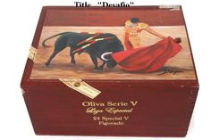 Father' s Gift !! Cigar Box with artwork . Cuban Collection. Limited Edition CC